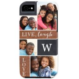 Thumbnail for iPhone 5 Custom Photo Case-Mate Tough Case with Collage Monogram design 1