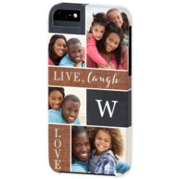 Thumbnail for iPhone 5 Custom Photo Case-Mate Tough Case with Collage Monogram design 2