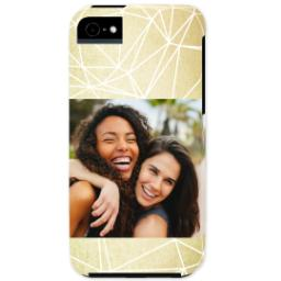 Thumbnail for iPhone 5 Custom Photo Case-Mate Tough Case with Gold Geometry design 1