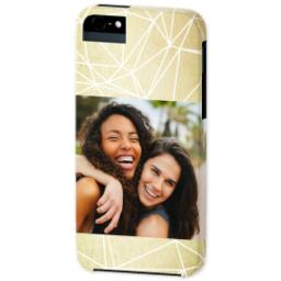 Thumbnail for iPhone 5 Custom Photo Case-Mate Tough Case with Gold Geometry design 2