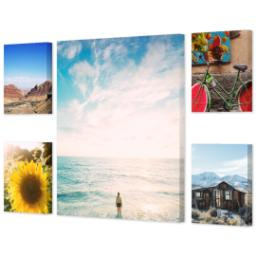 "Thumbnail for 5 Piece Multi-Piece Canvas (24"" x 40"") with Memory Milestones: Multi Photo design 2"