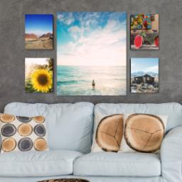 "Thumbnail for 5 Piece Multi-Piece Canvas (24"" x 40"") with Memory Milestones: Multi Photo design 4"