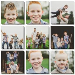 "Thumbnail for 9 Piece Canvas Cluster (31"" x 31"") with Nine Photo Burst: Multi Photo design 1"