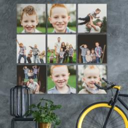 "Thumbnail for 9 Piece Canvas Cluster (31"" x 31"") with Nine Photo Burst: Multi Photo design 4"