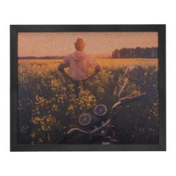 Thumbnail for 16x20 Black Framed Corkboard with Full Photo design 1