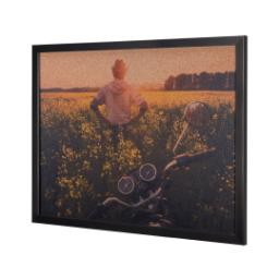 Thumbnail for 16x20 Black Framed Corkboard with Full Photo design 2