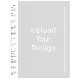 Thumbnail for Poster Calendar, 11x14, Matte Photo Paper with 2019 Calendar Poster: Upload Your Design design 1