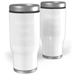 Thumbnail for Stainless Steel Collage Tumbler, 14oz with Upload Your Logo design 1