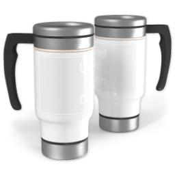Thumbnail for Stainless Steel Photo Travel Mug, 14oz with Upload Your Logo design 1