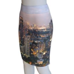 Thumbnail for Photo Pencil Skirt - Fasheen (Women L) with Full Photo design 1