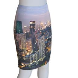 Thumbnail for Photo Pencil Skirt - Suede (Women L) with Full Photo design 2