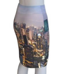 Thumbnail for Photo Pencil Skirt - Suede (Women XL) with Full Photo design 3