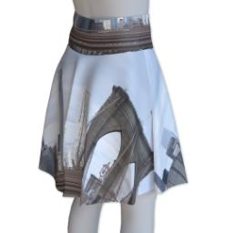 Thumbnail for Photo Skater Skirt - Suede (Women L) with Full Photo design 3
