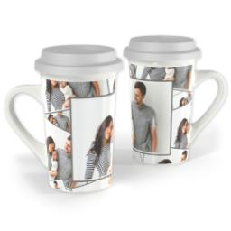 Thumbnail for Premium Grande Photo Mug with Lid, 16oz with Tiled Photo design 1