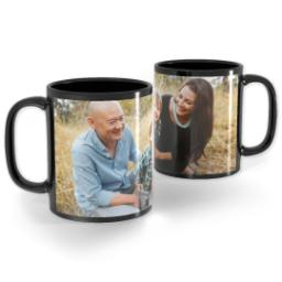Thumbnail for Black Ceramic Photo Mug, 11oz with Full Photo design 1