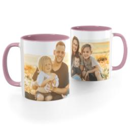 Thumbnail for Pink Handle Photo Mug, 11oz with Full Photo design 1