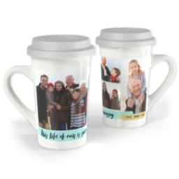 Thumbnail for Premium Grande Photo Mug with Lid, 16oz with Amazing Life design 1