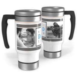 Thumbnail for Stainless Steel Photo Travel Mug, 14oz with Best Dad Ever design 1