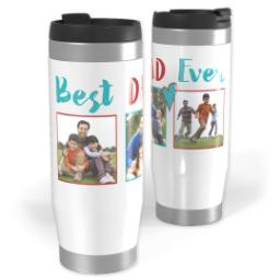 Thumbnail for Premium Tumbler Photo Travel Mug, 14oz with Best Dad Ever Heart design 1