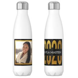Thumbnail for 17oz Slim Water Bottle with Blackand Gold Knock Out design 3