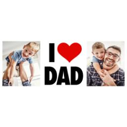 Thumbnail for Stainless Steel Photo Travel Mug, 14oz with I Heart Dad design 2