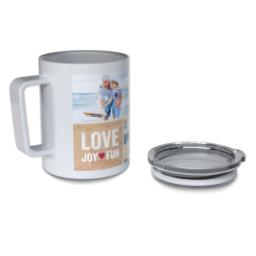 Thumbnail for Insulated Coffee Mug, 11oz with Love Joy Fun design 4