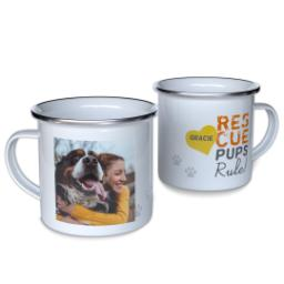 Thumbnail for 12oz Enamel Campfire Mug with Rescue Pups design 1