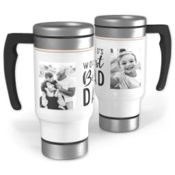 Thumbnail for Stainless Steel Photo Travel Mug, 14oz with World's Best Dad design 1