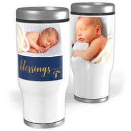 Thumbnail for Stainless Steel Tumbler, 13oz with Blessings design 1