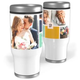 Thumbnail for Stainless Steel Tumbler, 13oz with Color Block design 1