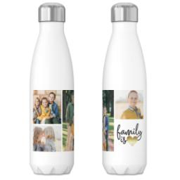 Thumbnail for 17oz Slim Water Bottle with Family Is Love Gold design 3