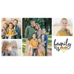 Thumbnail for 17oz Slim Water Bottle with Family Is Love Gold design 5