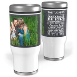 Thumbnail for Stainless Steel Tumbler, 13oz with Family To Live By design 1