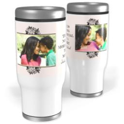 Thumbnail for Stainless Steel Tumbler, 13oz with Floral Etching design 1