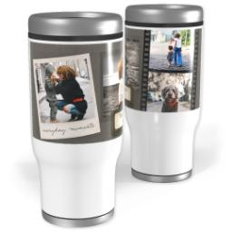 Thumbnail for Stainless Steel Tumbler, 13oz with Freeze Frame design 1