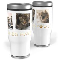 Thumbnail for Stainless Steel Tumbler, 13oz with Furry Cuddly Family design 1