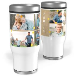 Thumbnail for Stainless Steel Tumbler, 14oz with Gold Confetti With Canvas design 1
