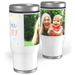 Thumbnail for Stainless Steel Tumbler, 13oz with Happiness Is Unique design 1