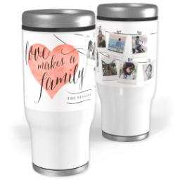 Thumbnail for Stainless Steel Tumbler, 13oz with Heart Of The Home Gray design 1