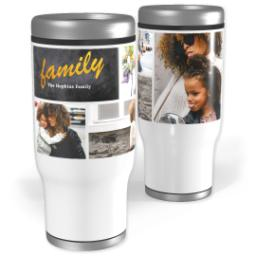 Thumbnail for Stainless Steel Tumbler, 13oz with Modern Chalkboard design 1