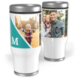Thumbnail for Stainless Steel Tumbler, 13oz with Modern Triangle design 1