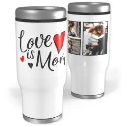 Thumbnail for Stainless Steel Tumbler, 13oz with Mom Hearts design 1