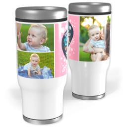 Thumbnail for Stainless Steel Tumbler, 14oz with Mom's Love design 1