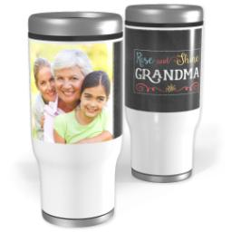 Thumbnail for Stainless Steel Tumbler, 13oz with Rise and Shine Grandma design 1