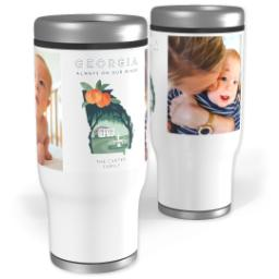 Thumbnail for Stainless Steel Tumbler, 13oz with Scenic View Georgia design 1