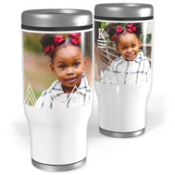 Thumbnail for Stainless Steel Tumbler, 13oz with Triangle Details design 1