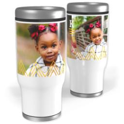 Thumbnail for Stainless Steel Tumbler, 13oz with Triangle Details design 2