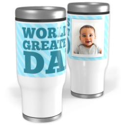 Thumbnail for Stainless Steel Tumbler, 13oz with World's Greatest Dad design 1